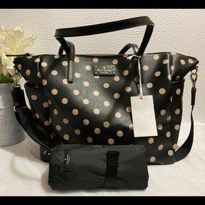 Kate Spade Adaira Baby Bag with matching wallet